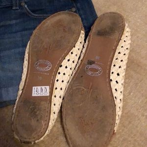 Shoes - Basket weave flats bought in soho, worn 4 times